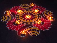 Discover beautiful diwali rangoli designs for your house. These simple rangoli designs can be made during festivals like Dussehra, Ugadi and Holi too. Best Rangoli Design, Easy Rangoli Designs Diwali, Indian Rangoli Designs, Simple Rangoli Designs Images, Rangoli Designs Latest, Rangoli Designs Flower, Free Hand Rangoli Design, Rangoli Border Designs, Small Rangoli Design