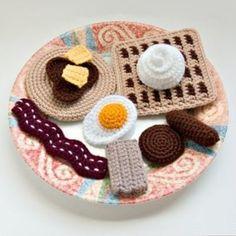 Crochet Breakfast Food by NeedleNoodles