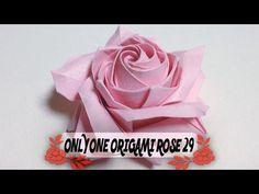 達人折りのバラの折り紙29 Only one origami rose29 - YouTube