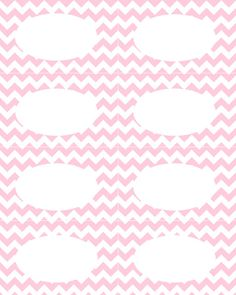 chevron name card Printable Labels, Free Printables, Food Labels, Chevron Labels, Girl Shower, Baby Shower, 30th Birthday Parties, Shabby, Party Time