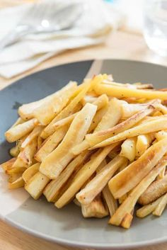 Roasted Parsnips On Tricolor Plate For Easy Dinner Side Dish