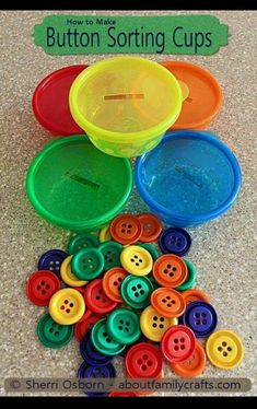 button color sorting preschool quiet time activities