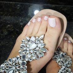 Legs & Feet ✾ in Sandals Beautiful Sandals, Beautiful Toes, Cute Sandals, Cute Toes, Pretty Toes, Nail Designs Spring, Toe Nail Designs, Feet Soles, Women's Feet