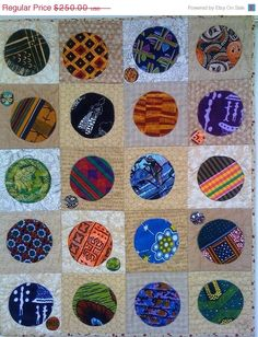 ON SALE Menopause Circles 2 32 x 40 inch art by OVBrantleyQuilts, $150.00