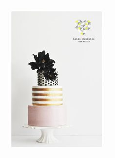 Chic & Modern 35th Birthday Cake