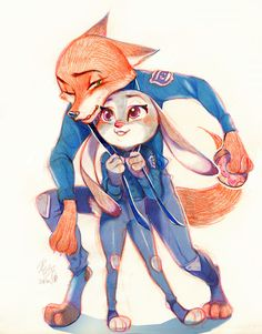 Shipping Judy & Nick — Rookie!Help me tie my tie! by n09142