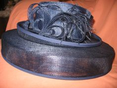 NAVY DOUBLE BRIM HAT