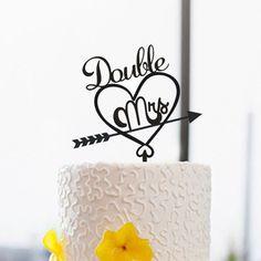 Gleichen Geschlechts Cake Topper-Hochzeit Kuchen von DreamsGarden