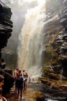 Cachoeira do Mosquito: podemos nos aproximar pelas margens...