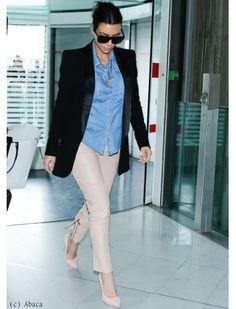 Kim Kardashian à l'aéroport de Paris