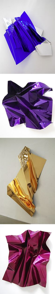 Any wall would look great with these shiny pieces from Aldo Chaparro.