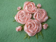 ribbon embroidery | ribbon embroidery rose | Flickr - Photo Sharing!