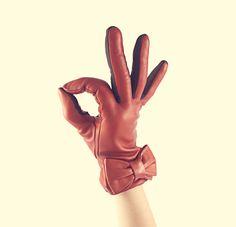 Bow orange Gloves
