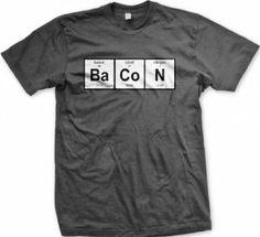 Bacon t-shirt! (Barium cobalt nitrogen)