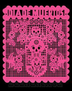 Dia+De+Los+Muertos+Papel+Picado+Print+by+beenznrice+on+Etsy,+$10.00. CA