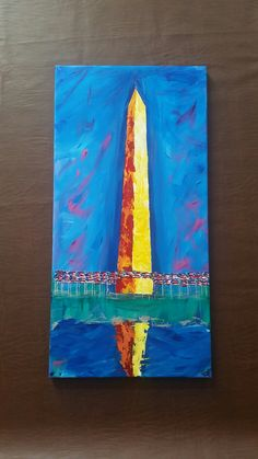 Washington Monument with reflecting pool abstract artwork by Gail McCann, July 2017 Cc Cycle 3, Washington, Bee, Abstract, Gallery, Artwork, Painting, Etsy, Summary