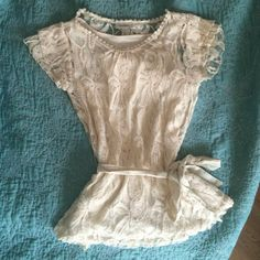 Gorgeous Cream Top New Gorgeous Dress Barn top.  Beautiful cream colored lace with cream tank top lining underneath.  Very pretty! Size Small. NWOT Dress Barn Tops Blouses