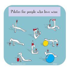 #inst10 #ReGram @wrapitmate: I love this!! #wrapitmate #pilates #wine #love #fun