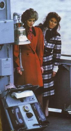 What were they up to......??? Princess Diana and Sarah, Duchess of York, aboard Prince Andrew's ship