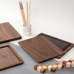 iPad Cases aus edlem Walnussholz