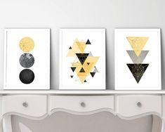 Une tendance maintenant Art Art imprimable ensemble de 3