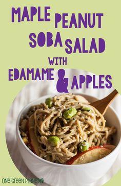 Maple Peanut Soba Salad