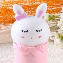 2017 Новый Творческий Красочный Дизайн Животных Милый Кролик Эмоциональные лампы Детские bedlight