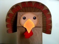Turkey Paper Bag Puppet by Thanksgiving Crafts, Fall Crafts, Halloween Crafts, Happy Thanksgiving, Turkey Paper Bag, Preschool Crafts, Crafts For Kids, Paper Bag Crafts, Paper Bag Puppets