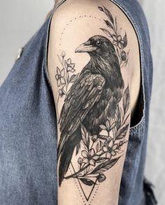 Tatoo Nature, Nature Tattoos, Body Art Tattoos, Girl Tattoos, Small Tattoos, Tattoos For Guys, Sleeve Tattoos, Tatoos, Crow Tattoo Design