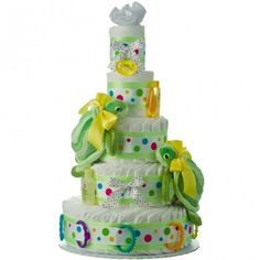 Just needs a turtle book. TWIN TURTLES 5 TIER DIAPER CAKE...SAME IDEA BUT UNDER THE SEA