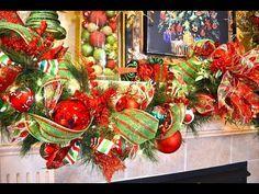 How to decorate a Garland for Christmas| Como Decorar una Guirnalda para navidad - YouTube