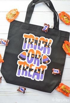 This Trick or Treat Bag is such a fun and easy project   everyone will love that it also glows in the dark! Get the tutorial on the blog.