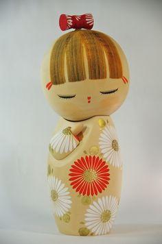 Kokeshi Japanese Dolls Signed Aoki Ryouka