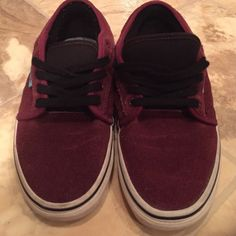 Maroon Vans! Super cute fun maroon vans! Vans Shoes