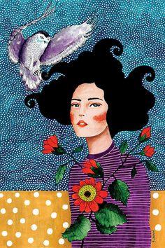 You Are Safe With Me Art Print by Hülya Özdemir Kunstjournal Inspiration, Art Journal Inspiration, Art And Illustration, Abstract Drawings, Cool Art Drawings, Canvas Wall Art, Wall Art Prints, Canvas Prints, Gustav Klimt