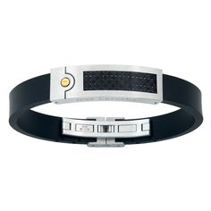 Guy Laroche Men Rubber and stainless steel bangle Guy Laroche, Men's Jewelry, Bangles, Stainless Steel, Belt, Guys, Business, Accessories, Fashion