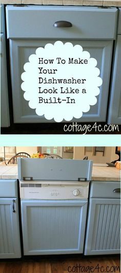 How to make your dishwasher look like a built in
