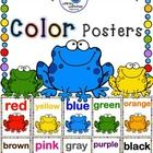 """These cute frogs are here to brighten up your classroom with color and whimsy! There are twelve colors represented (two for """"grey"""" and """"gray"""") feat..."""