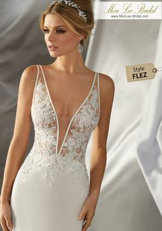 Mori Lee Bridal 6870 Wedding Dress - Part of the Mori Lee Voyage collection Bridal Wedding Dresses, Dream Wedding Dresses, Sleek Wedding Dress, Mori Lee Wedding Dress, Sparkle Wedding Dresses, Sexy Reception Dress, Wedding Dress Sheath, Wedding Dresses Tight Fitted, Wedding Dress Low Back