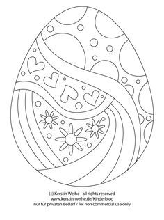 easter egg coloring page / ostereier malvorlage | ostern
