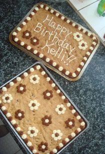 Chocolate Chip Cookie Cake recipe.... they even spelled my name right!!!