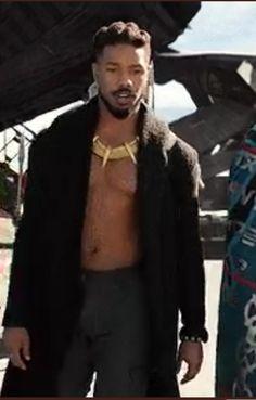 Michael b. Jordan as Erik Killmonger 🔥 Erik Killmonger, Fictional Characters, Fantasy Characters