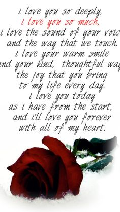 love you so much. I'll love you forever with all my heart. Love You Poems, L Love You, Love Quotes For Him, I Love You Deeply, Love You Forever Quotes, Quotes Valentines Day, Happy Valentines Day Quotes For Him, Birthday Quotes, Edith Gonzalez