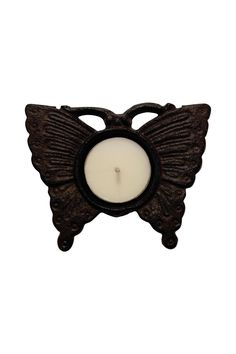 "Our Butterfly Cast Iron Votive Holder will grace any end table or patio. A great hostess our housewarming gift.    Measures 4"" W x 3.5"" D   Butterfly Tea Light Holder by Giftcraft Inc. . Home & Gifts - Home Decor - Decorative Objects Woodstock, Georgia"