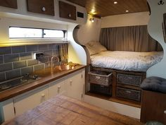 Adorable Wood Interior Ideas For Sprinter Van Camper, Volkswagen campers stick out from the crowd. A Sprinter van camper is readily the most flexible type of Sprinter RV. Our very last RV had one small ba. Camping Diy, Van Camping, Truck Camping, Camping Gear, Camping Vintage, Vintage Rv, Vintage Trailers, Vintage Motorhome, Vintage Campers
