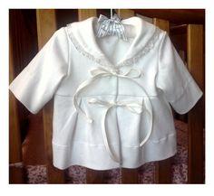 Baby Girl SemiFitted Cream/Ivory Off-White Coat/Christening Jacket SydneynMilaBoutique.etsy.com