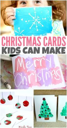 130 Best Christmas Cards Kids Can Make Images Diy Christmas Cards