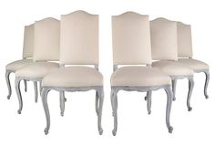 1900s Louis XV Dining Chairs, S/6