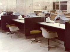 Even Japanese banks have Eames designs by Herman Miller