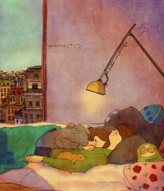 ♥ SLEEP ~ I feel like I'll have a cozy dream if I fall asleep just like this and…